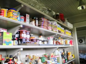 It is amazing to see how much can fit into a pantry. It looks so much better already.