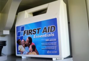 And of course, I always keep a first aid kit close at hand in every kitchen, pantry and workspace.