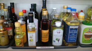 Oils and vinegars were returned and organized by size and height, so every label was easy to see with often used items in the front. Keep all types of vinegar in their original bottles, and store them in a cool, dark spot.
