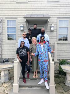 Snoop Dogg and five members of his gang stopped by the farm on their way to an event in New York City. Here we are on the steps of my Winter House with Tasha Hayward, Ted Chung, La La, Wall, and Tiny. Kevin Sharkey took this photo - see more of his photos on his Instagram page @seenbysharkey.