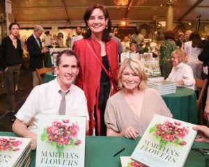 Here I am at our book signing with Kevin and the new President of The New York Botanical Garden, Carrie Rebora Barratt. (Photo by Angela Pham/BFA.com)