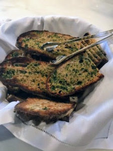 Pierre made some herbed toast as well - with herbs grown here at the farm. I always try to plan menus around what I have growing in the gardens. It makes me so happy to serve fresh, organic foods.