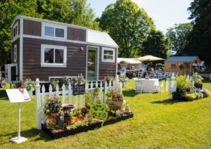 "The Flower Show also featured six ""tiny houses"" to complement this year's theme. Each house was displayed with its own sustainable outdoor garden. (Photo courtesy of The Preservation Society of Newport County)"