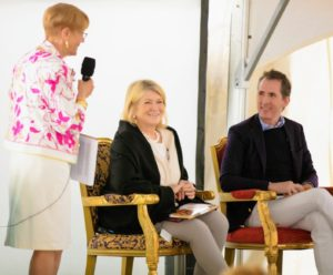 "During the luncheon, Kevin and I participated in a discussion moderated by Preservation Society Executive Director, Trudy Coxe. We talked about ""Martha's Flowers"" and took questions from guests. (Photo courtesy of The Preservation Society of Newport County)"