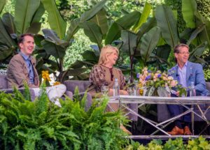 "Paul, Kevin and I had such a lovely discussion about our book, ""Martha's Flowers"", about how we developed it and what inspired us to create it. (Photo courtesy of Longwood Gardens)"