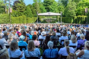 The Open Air Theater holds 1500-guests - it was almost completely filled. The Theater has hosted countless performances and concerts since its 1914 debut, including those by John Philip Sousa and Martha Graham. (Photo courtesy of Longwood Gardens)