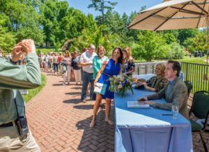 Whenever I can, I like to stop and pose for photos with guests during these book signing events. It takes a bit longer for those in line, but it is a personal touch I enjoy doing for visitors. (Photo courtesy of Longwood Gardens)