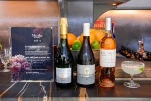 We served a flavorful collection of wines from Martha Stewart Wine Co. They included: L'Arche Perlee Cremant de Bordeaux – Brut, a 2016 Jean Boisselier Bourgogne Aligote, and a 2016 Racine Côtes De Provence Rosé. (Photo by Madison Voelkel, BFA.com) https://marthastewartwine.com/