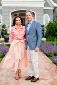 Here is a lovely snapshot of our hosts, James and Lisa Cohen, in front of their beautiful home. (Photo by Carl Timpone/BFA.com)