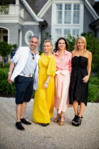 Here is a photo of HMI's CEO, Thomas Krever, Lisa, and dinner co-hosts including Tracy Anderson. (Photo by Carl Timpone/BFA.com)