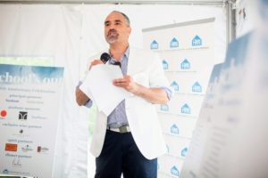 Thomas also addressed the group and thanked everyone for their participation. (Photo by Carl Timpone/BFA.com)