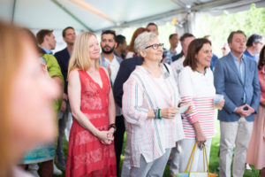 The guests were very energetic and enjoyed the auction - it was a great success. (Photo by Carl Timpone/BFA.com)
