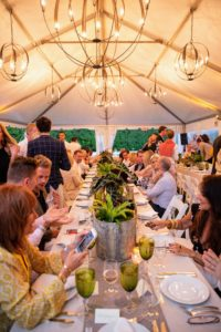 The beautiful tent created a lovely dining atmosphere - everyone had such a great time. (Photo by Carl Timpone/BFA.com)