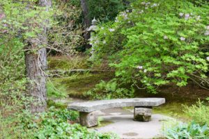 Benches are strategically placed throughout the garden, so visitors may also sit and reflect.
