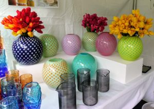 Here are some colored glass containers also from Iannazzi.