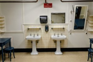Here are the bathroom pedestal sinks - still the same after 91-years.