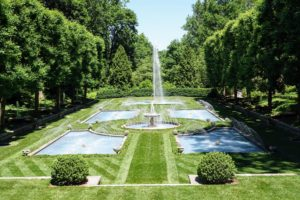 We loved the fountains at Longwood. This one was designed by Pierre S. du Pont. It opened in 1925 in the Italian Water Garden, which is flanked by two matching allées of pollarded little-leaf linden, Tilia cordata.