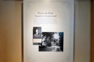Part of the Peirce-du Pont House Heritage Exhibit, this signage gives a peek into Longwood's rich history. Dating from 1730, the Peirce-du Pont House is the oldest building at Longwood. The Federal-style home served as the Peirce family homestead until 1905 and then became the weekend residence of Pierre S. du Pont from 1906 until his death in 1954.