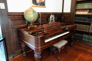 This square Steinway piano with a rosewood case and pillar legs originally graced Goodstay, the home of Pierre S. du Pont's grandmother, Margaretta Elizabeth Lammot du Pont before it was brought to Longwood.