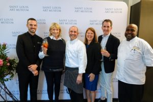 And here's a fun photo with the Saint Louis Art Museum culinary team - Gabe Kveton, Catering Operations Manager, Ivy Magruder, Executive Chef, General Manager Panorama at the Saint Louis Art Museum, Sarah Glass, Director of Catering and Tony Cole, Sous Chef.