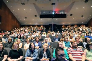 Every seat was filled - it was so nice to see such an enthusiastic and interested crowd.