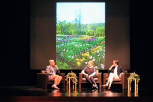 Brent Benjamin moderated the discussion. We talked about the book, my own gardens and how they inspired the development of the book.