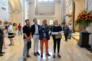 """After the event, a group of us toured the museum's """"Sunken Cities: Egypt's Lost Worlds"""" exhibit. The show displays more than 200 ancient religious, ceremonial, and commercial artifacts that were submerged under the Mediterranean Sea for more than a thousand-years."""