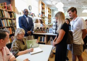 Kevin and I signed dozens and dozens of books. As a longtime resident, I always enjoy doing events in East Hampton.