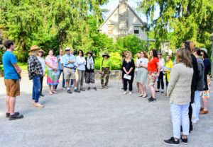 Most of our tours start at the front gate of my home. All the guests receive a map of the property and a short introduction and history about the farm and how it has evolved over the years. Here, I also asked everyone to introduce themselves - it always makes the tour much more personal.