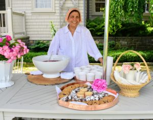 My longtime housekeeper, Laura, set up some refreshments on the lower terrace parterre outside my Winter House kitchen. I always like to offer guests some tasty treats at the end of our tours.