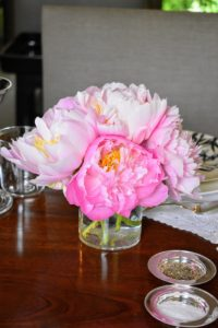 When using peonies for cut flowers, gather them early in the morning, and always cut the stems at an angle before placing them in vessels.