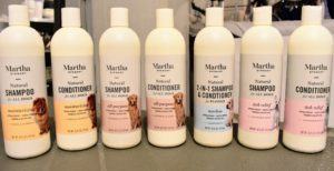 My new line of Fetch for Pets Shampoos and Conditioners are all natural, hypoallergenic and gentle enough for regular bathing. The formulas are also paraben and sulfate free. My collection includes an all-purpose formula, an itch relief formula, a special moisturizing formula and a two-in-one shampoo and conditioner formula.