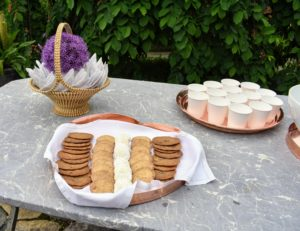 The group was offered a light snack of cookies and punch - all the cookies were very popular and went quickly.