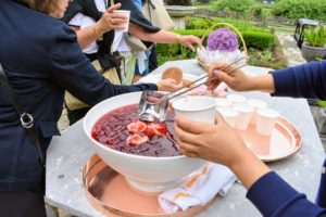 My housekeeper, Sanu Sherpa, served everyone a delicious pomegranate punch - everyone loved it.