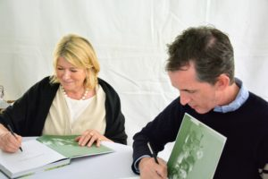 Kevin and I signed dozens and dozens of books. (Photo courtesy of The Preservation Society of Newport County)