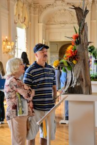 Inside the mansion, there were lovely floral displays and submissions for the annual botanical competitions. (Photo courtesy of The Preservation Society of Newport County)