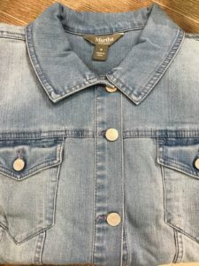 My denim jackets are perfect for those crisp, cool summer mornings and those cool, air-conditioned offices. I chose to make a timeless style that will match with every blouse or t-shirt worn with it.