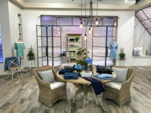 Here is a closer look at one of the QVC studios all set up with my denim jeans. These embroidered, ankle-length jeans are perfect for summer with five functional pockets and a slimming silhouette.