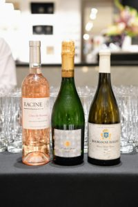 I chose three wonderful wines from our Martha Stewart Wine Co. - Aligote white, Racine rose and a sparkling Cremant. (Photo by Sean Sime)