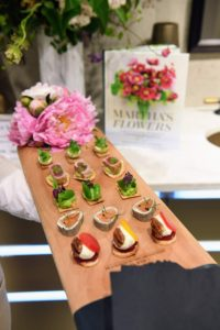 Chef Pierre Schaedelin prepared delicious bites for all to enjoy, including ham and cheese croque monsieur, crushed pea on crouton topped with wild edibles, deviled quail eggs with wasabi caviar, rolled marinated salmon on buckwheat crepes, seared sesame tuna, edamame and wasabi purée on taro root, baby candied beets, goat cheese, and pecans, seven-vegetable risotto ball with arugula-hazelnut pesto,  and kale and feta tarts. (Photo by Sean Sime)