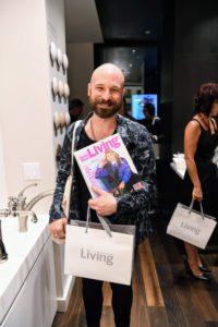 "Some guests even brought older copies of ""Living"" for me to sign. (Photo by Sean Sime)"