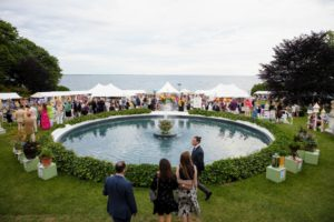 Rosecliff looks out onto Sheep Point Cove - a lovely venue for this wonderful event. (Photo courtesy of The Preservation Society of Newport County)