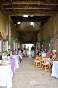 The barn is more than 200-years old - it was the perfect location for this breakfast and discussion. There were more than 25 in attendance.