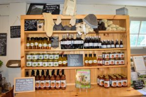 The store carries a variety of homemade jams, jellies, maple syrups and other preserves produced by The Hickories as well as other working farms in the area.