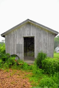 This is The Hickories' corn crib. I told them I also had a corn crib at my Cantitoe Corners farm in Bedford.
