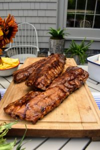 Pat also brought some ribs - there were no leftovers after this meal. Pat's meats are so flavorful.