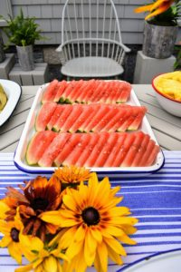 And lots of fresh watermelon for everyone to enjoy.