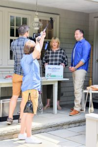 Here, Pat and I started our Facebook LIVE broadcast talking about the Martha Stewart Ultimate Grilling Package now sold on Pat's web site. It contains four one-inch thick steaks, four six-ounce burger patties, six hot dogs and a tub of my special herbed butter. lafrieda.com/martha-stewart