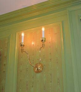 These sconces look wonderful all clean and shiny - one down and another to go on this wall of the parlor.