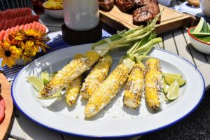 We all had this great grilled corn with Mexican cheese. See the recipe on my web site at https://www.marthastewart.com/318757/grilled-corn-with-cheese-and-chile.